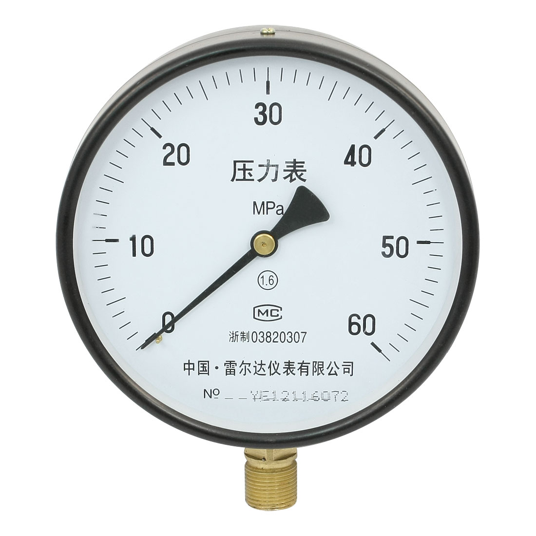 Y-150 M20 x 1.5 Thread 60Mpa Air Pressure Gauge for Industrial Compressor