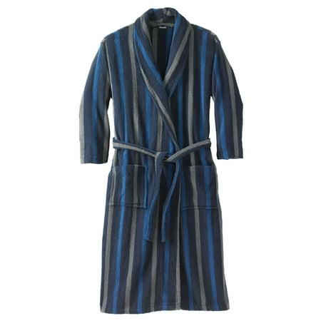 Kingsize Men's Big & Tall Terry Bathrobe With Pockets - Big And Tall Mens Robe