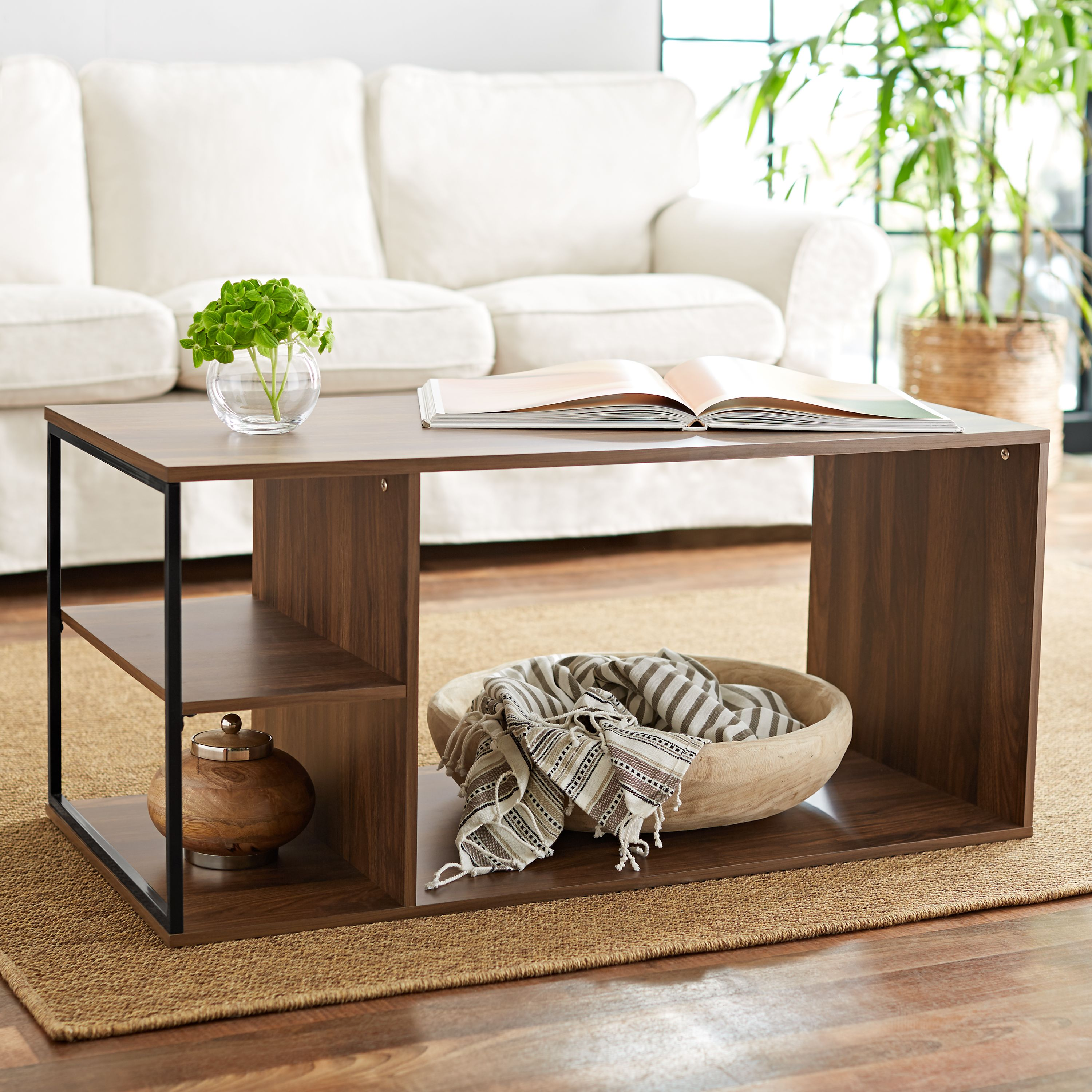 Mainstays Kalla Wood and Metal Coffee Table, Multiple Colors