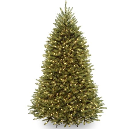 National Tree Pre-Lit 7-1/2' Dunhill Fir Hinged Artificial Christmas Tree with 750 Clear (Pre Lit Dunhill Fir Artificial Christmas Tree)