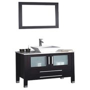 MTD Vanities Malta 36-inch Single Sink Bathroom Vanity Set with Mirror and Faucet