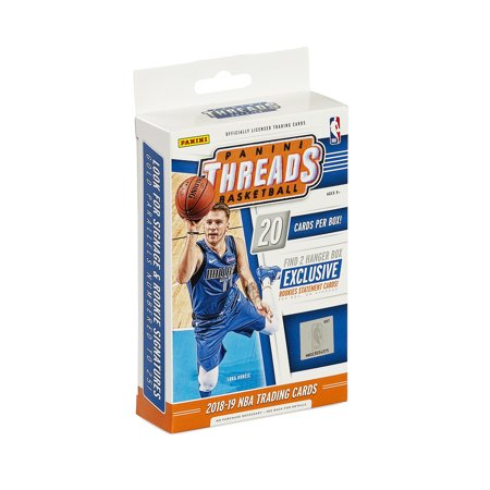 2018-19 Panini Threads Basketball Hanger Box- 20 NBA Trading Cards | Featuring Luka Doncic | Exclusive Rookie Statement Cards | Numbered Gold Inserts ()