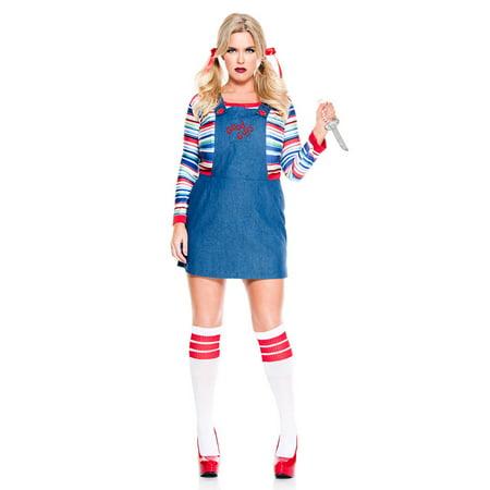 Plus Size Rag Doll Halloween Costumes (Plus Size Nightmare Killer Doll)