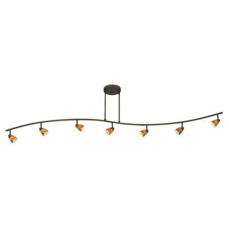 Cal Lighting Serpentine 7 Light Full Track Kit With Swirl Gl