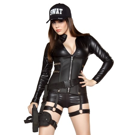 Roma Sexy Womens SWAT Team Police Officer Halloween Costume Large - Party Halloween 2017 Roma