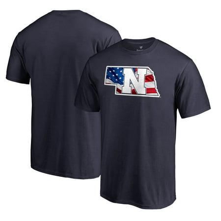 Nebraska Cornhuskers Fanatics Branded Banner State T-Shirt - Navy