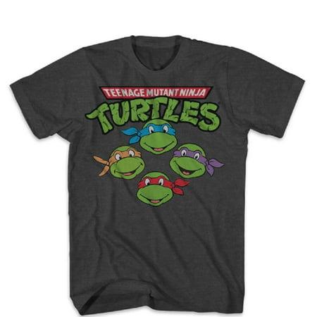 Teenage Mutant Ninja Turtles The Four Heads Adult T-Shirt for $<!---->