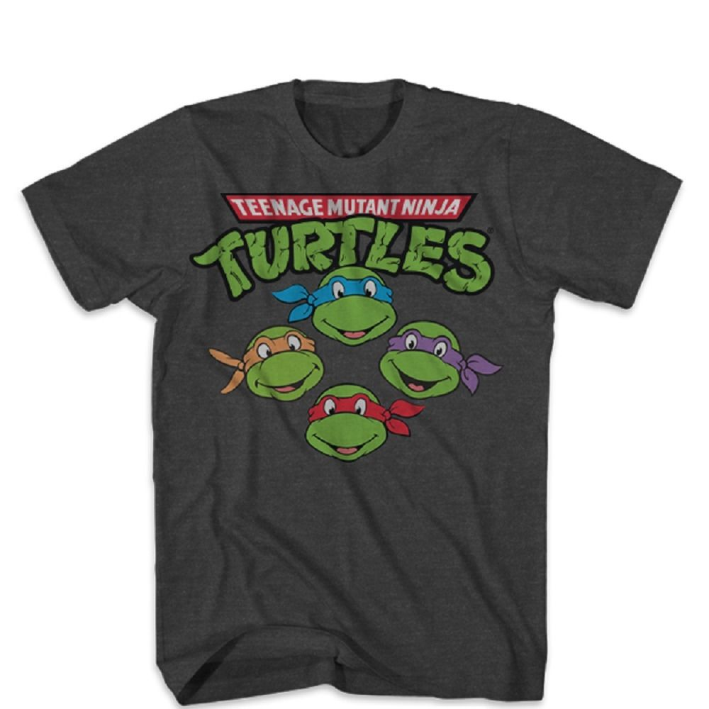 Teenage Mutant Ninja Turtles The Four Heads Adult T-Shirt