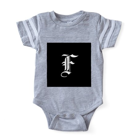 CafePress - Gothic Initial F - Cute Infant Baby Football Bodysuit - Baby Gothic