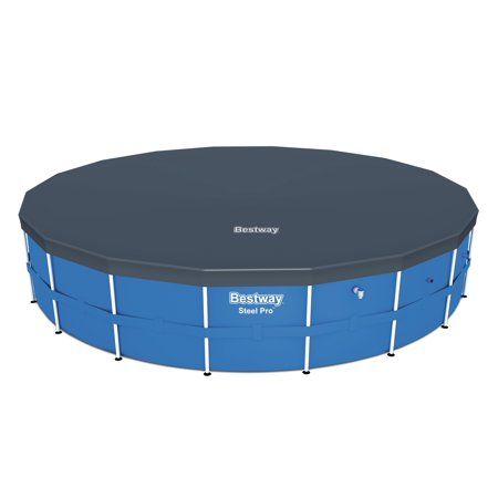 Bestway 18' Round PVC Above Ground Pool Debris Cover for Steel ProTM Frame (Best Way To Clean A Boat Cover)