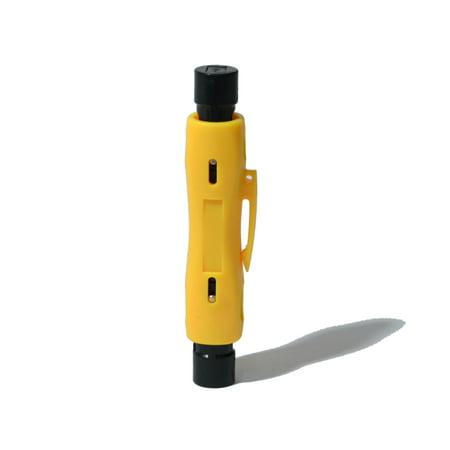 Coax Cable Pen Cutter Stripper for RG59 RG6 RG7 RG11 Stripper Tool ()