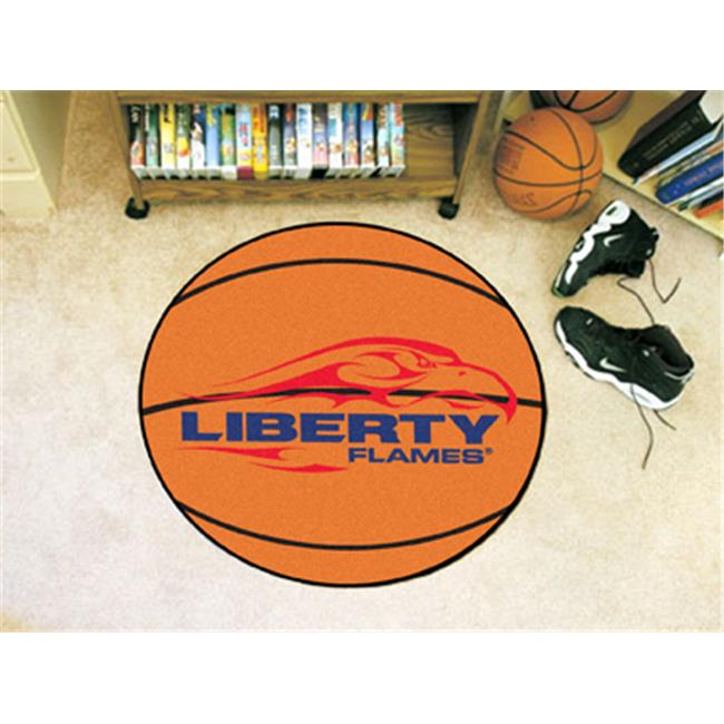 COL - 27 in.  diameter - Liberty University Basketball Mat