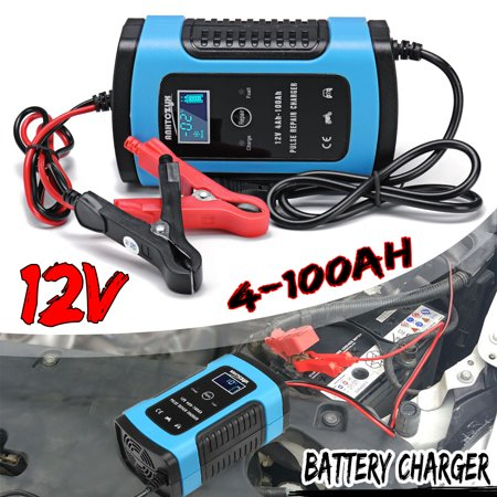 12v 6a Full Automatic Car Battery Intelligent Fast Power Charging Pulse Repair S Wet Dry Lead Acid Battery S With Lcd Display