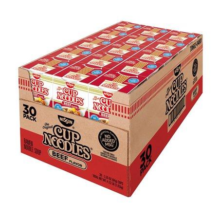 - Nissin Cup Noodles, Beef Flavor (2.25 oz., 30 ct.)