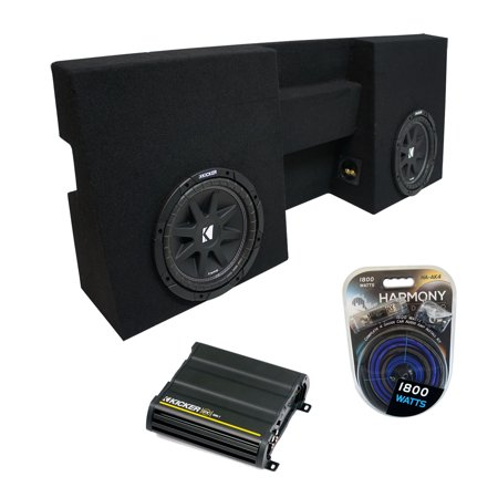 05-15 Toyota Tacoma Double Cab Truck Kicker Comp C10 Dual 10 Sub Box CX600.1 Amp - Factory Certified (Kicker Amps Subs)