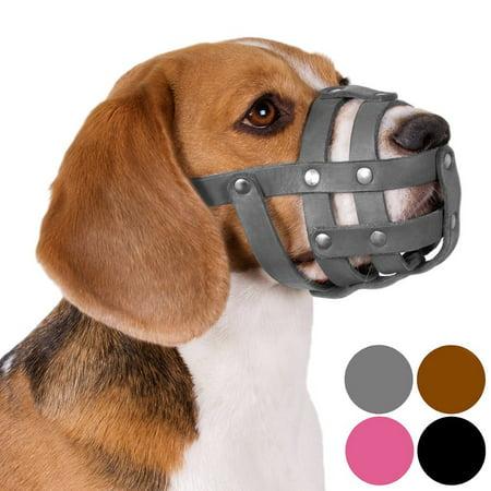 Dog Muzzle Beagle Spaniel Leather Secure Basket Small Puppies, - Beagle Dog Puppy
