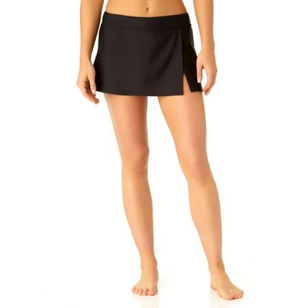 Skirted Black Bottom (Catalina Women's Black Skirted Swim Bottom)
