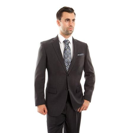 Mens Two Piece Herringbone Notch Lapel Suit 2 Piece Mens Suit