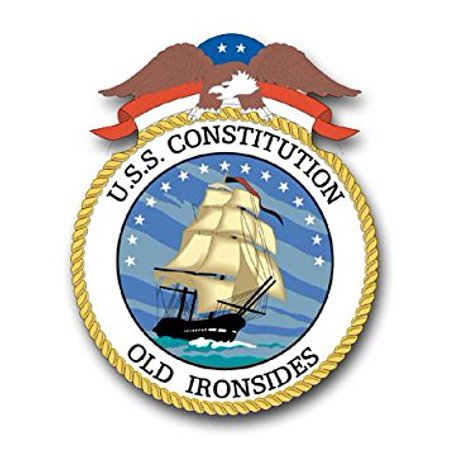 MAGNET US Navy Ship USS Constitution Old Ironsides Decal Magnetic Sticker 3.8