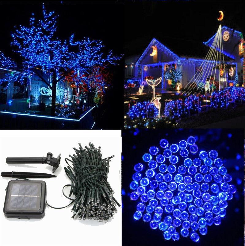 100 Solar Powered LED String Fairy Lights Xmas Wedding Party Outdoor Garden Tree Decor Multi-Color