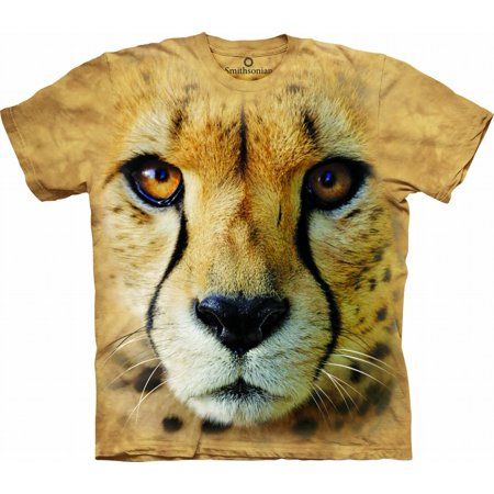 Tan Cotton Cheetah Endanger Novelty Adult Smithsonian T-Shirt](Cheetah Merchandise)
