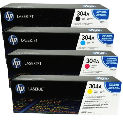 HP Genuine Cc530A, Cc531A, Cc532A, Cc533A Toner Set Bcym ...