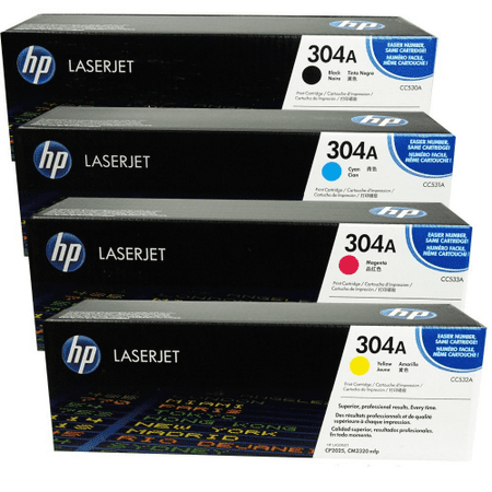 HP Genuine Cc530A, Cc531A, Cc532A, Cc533A Toner Set, BND00013 (Hp Cc532a Yellow Toner)