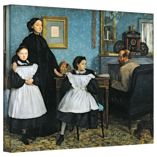 Artwal The Bellelli Family Gallery-Wrapped Canvas Artwork by Edgar Degas, 18 x 24 Inch by