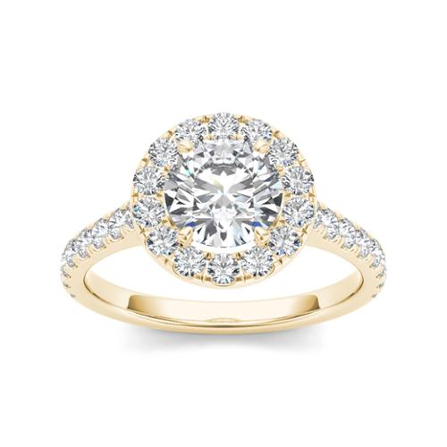 De Couer 14k Yellow Gold 1 1 2ct TDW Diamond Engagement Ring by Overstock
