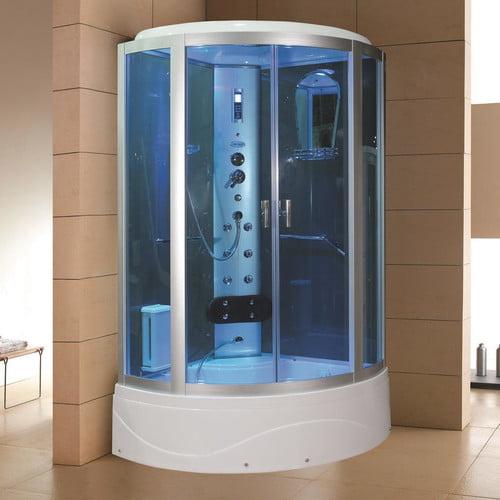Eagle Bath 42'' x 42'' x 86.2'' Sliding Door Steam Shower...