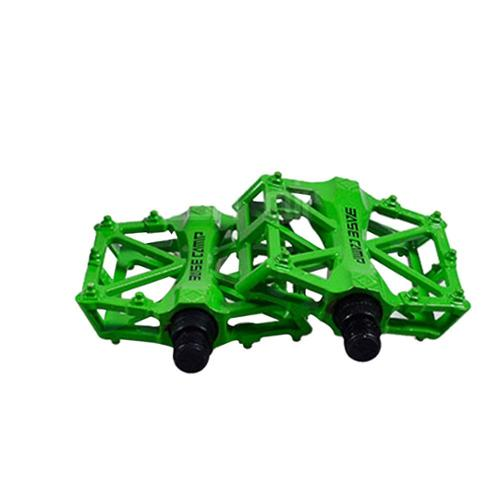 "AGPtEK MTB / BMX Cycling Mountain Bike Bicycle Bearing Alloy Lightweight Flat-Platform Pedals 9/16""-Green"
