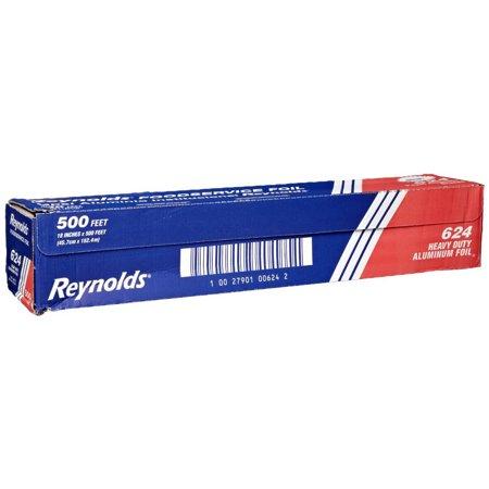 Heavy Duty Foil - Pactiv Reynolds Heavy-Duty Economy Aluminum Foil Roll Silver, 500' Length x 18
