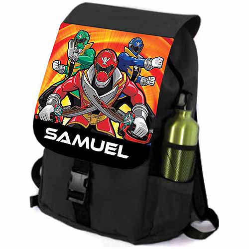 Personalized Power Rangers Let's Go Legendary Youth Black Backpack