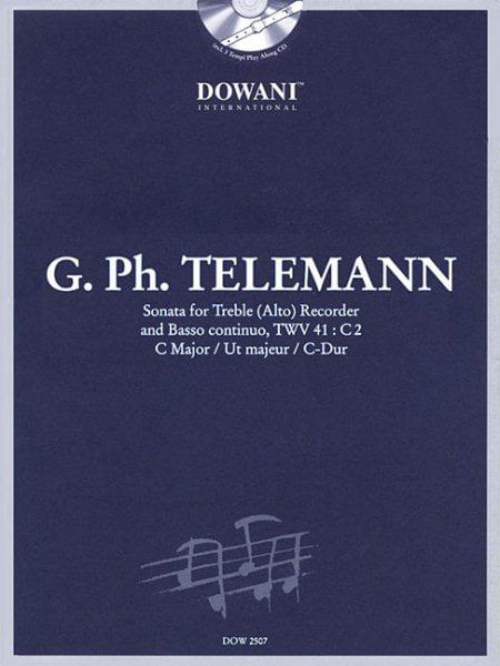Sonata in for Treble Alto Recorder and Basso Continuo, Twv 41 : C2 by Dowani Editions