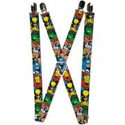 Buckle Down Kids' Elastic Marvel Avengers Clip End Suspenders