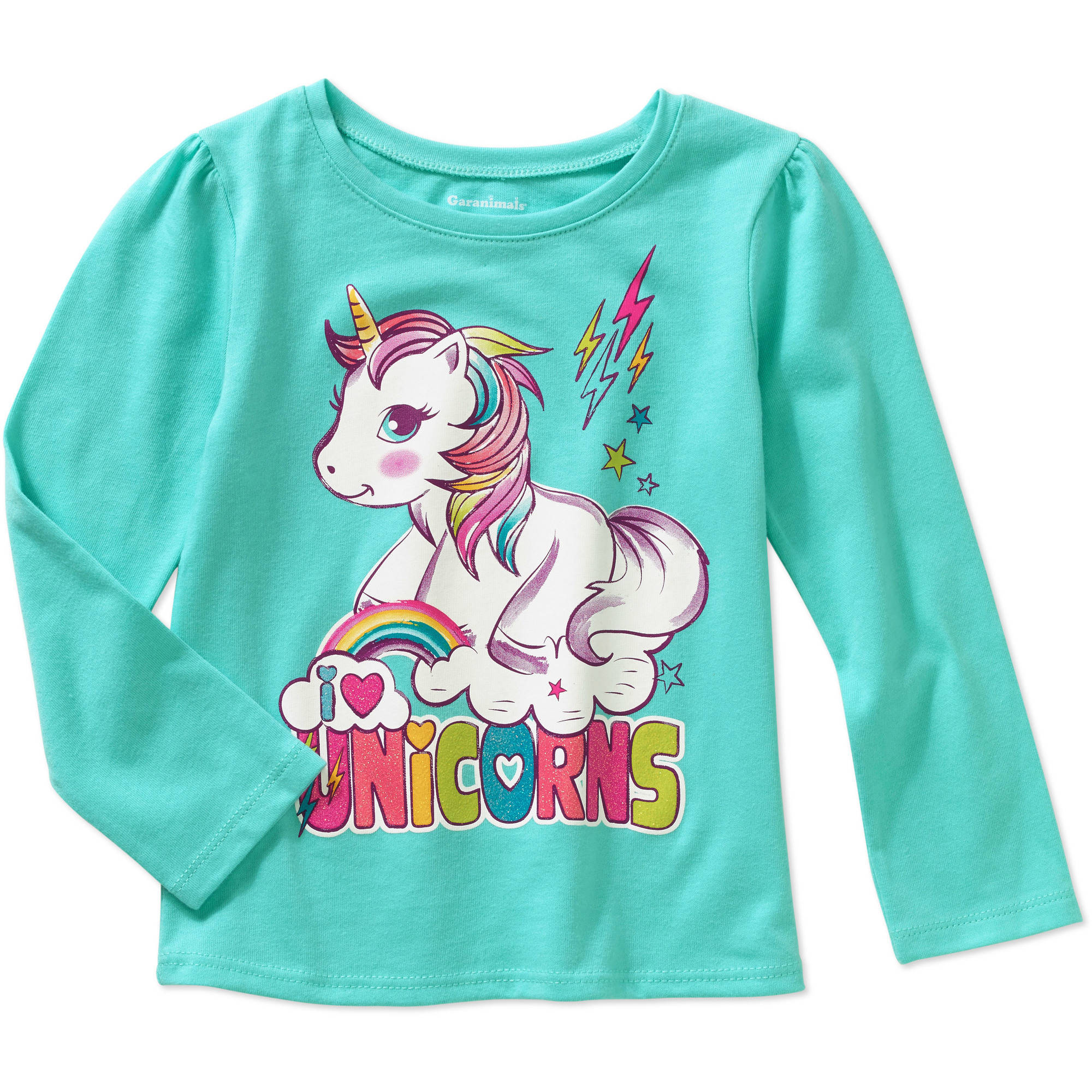 Garanimals Baby Toddler Girls' Long Sleeve Graphic Tee