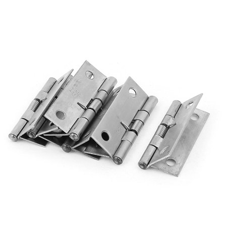Silver Tone Hinge (Uxcell 52mm Long Spring Loaded Cupboard Cabinet Closet Door  Hinge Silver Tone)