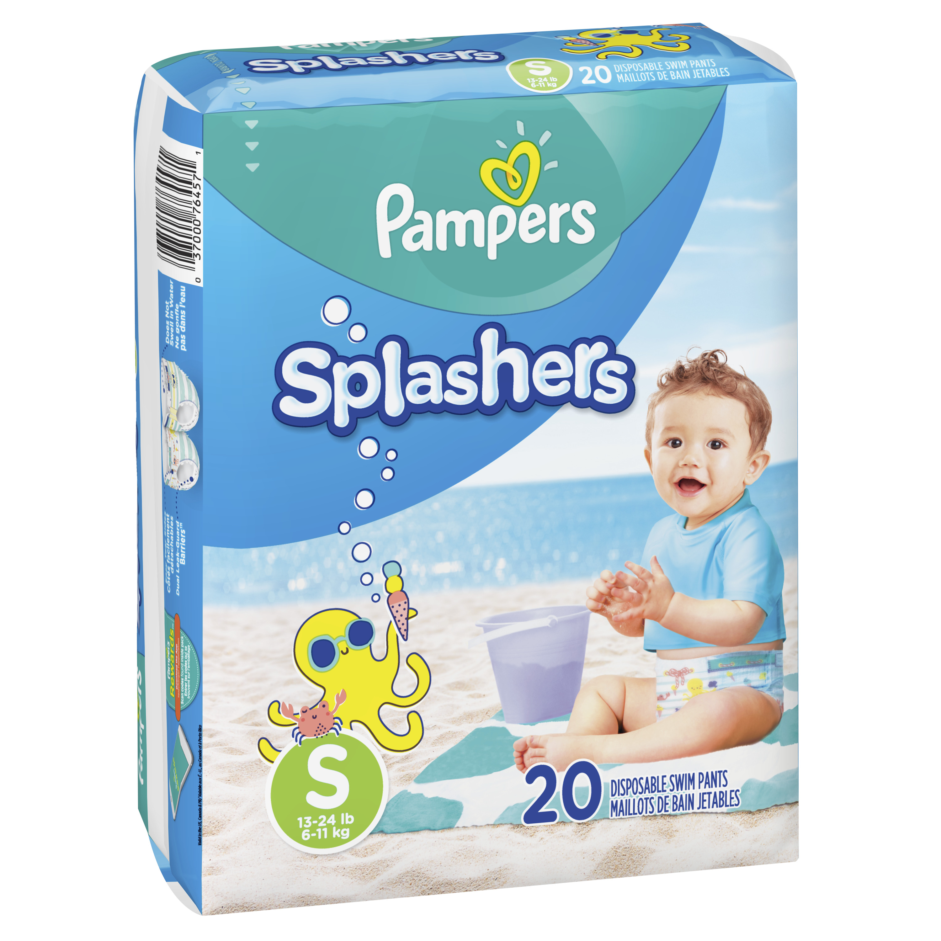 5427ec078 Pampers Splashers Swim Diapers (Choose Size and Count) - Walmart.com
