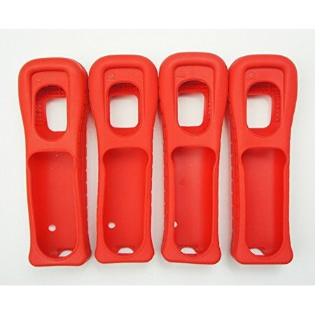 - Refurbished 4X Nintendo Wii Remote Wiimote Cover Jacket Skin Red Mario 4 Pack