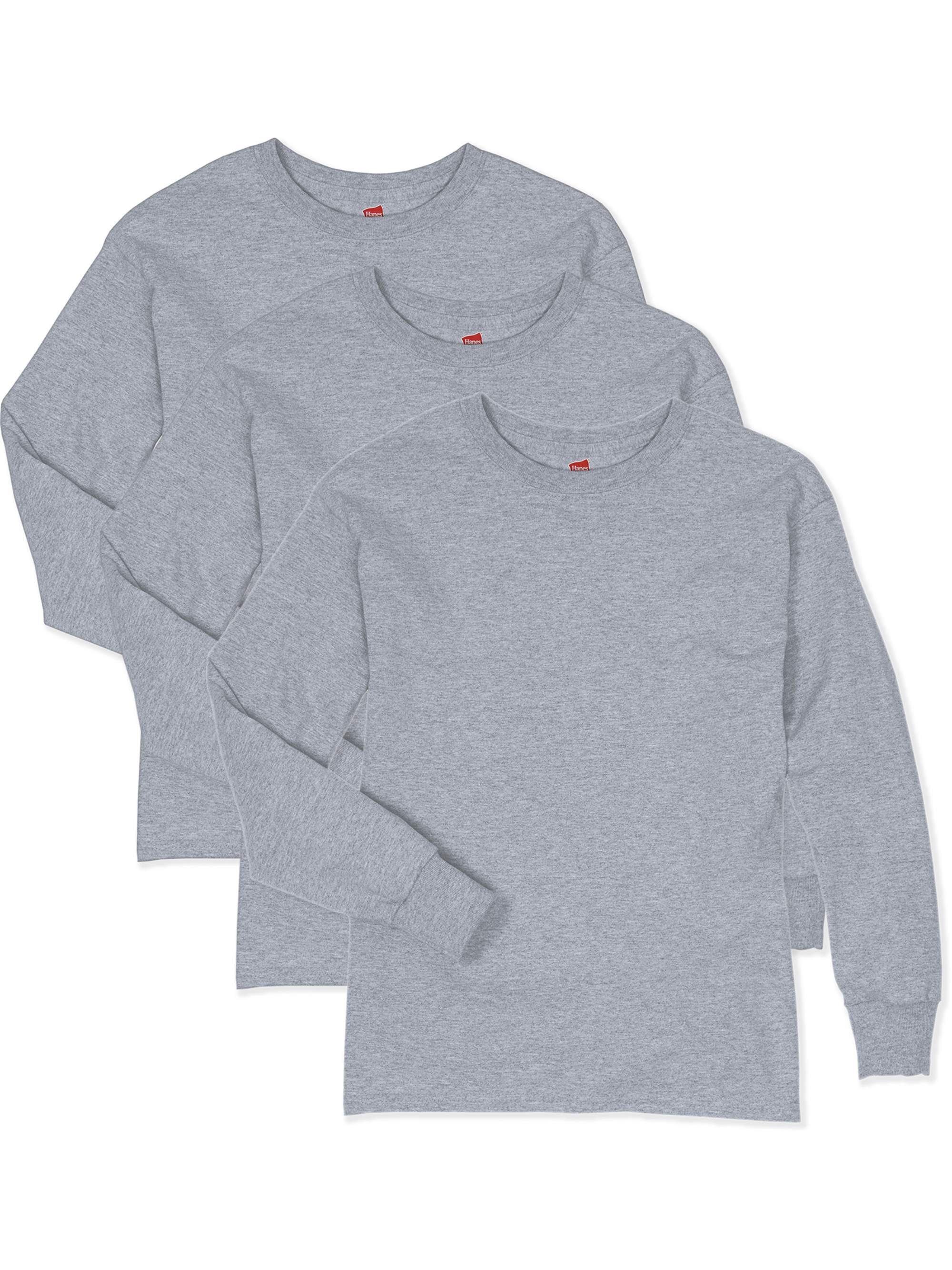 Hanes ComfortSoft Long Sleeve Tee, 3-Pack Set (Little Boys & Big Boys)
