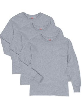 Hanes ComfortSoft Long Sleeve Tee Value Pack, 3 pack (Little Boys & Big Boys)