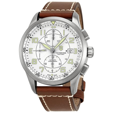 Swiss Army Airboss Mechanical Automatic Chronograph Steel Mens Watch Date 241598 (Men Watches Automatic Swiss Made)