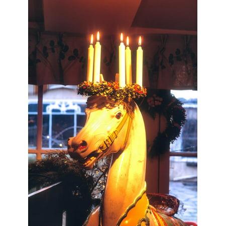Traditional Christmas Decorations, Restaurant Stallmastargarden, Stockholm, Sweden Print Wall Art
