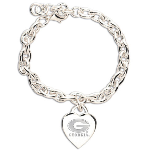 Wincraft University Of Georgia Heart Charm Bracelet