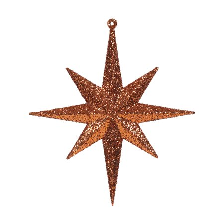 "8"" Burn Org Glitter Bethlehem Star 4/Box"
