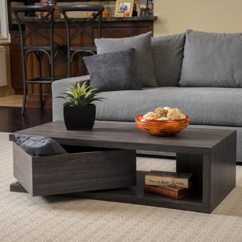 Sloane Rectangular Mod Rotatable Coffee Table