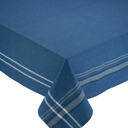 Design Imports French Blue Chambray Tablecloth - 60 x 84