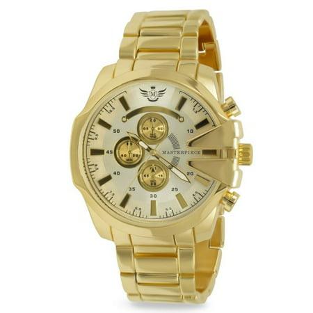 Gold V-cut Executive Classic Mens Watch