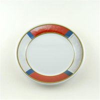 Galleyware AG 1172-6 Decorated Melamine Non-skid 8 in. Salad & Dessert Plate - Set of 6