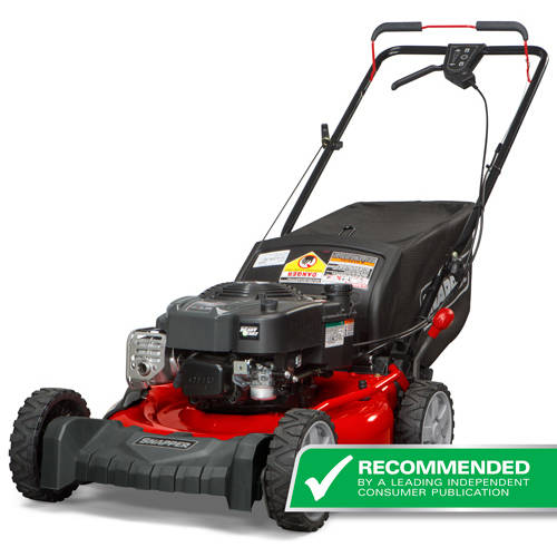 "Snapper 21"" Gas Rear Wheel Drive Self-Propelled Mower with Side Discharge, Mulching, Rear Bag"